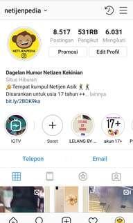 Jual Akun instagram besar 520k followers