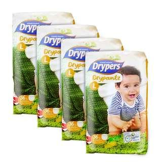 🚚 Drypers Drypantz Large 36S x 4packs