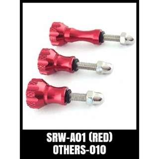 ALUMINIUM BASIC SCREW RED GOPRO HERO SRW-A01