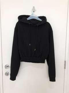 Glassons Black crop hoodie
