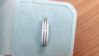 925純銀雙色鋯石戒指