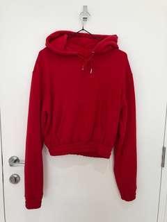 GLASSONS red crop hoodie