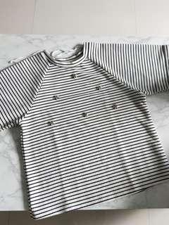 🚚 Boxy Striped embellished Top
