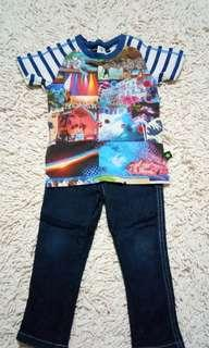 Shirt & Pants boy set 1-3y
