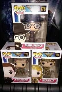 (ON HAND) Diana Prince WW, Steve Trevor & Hippolyta Wonder Woman DC Funko Pop Bundle