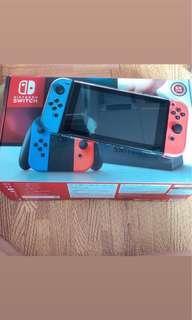 Switch 二手 9成新 保固到2019/7