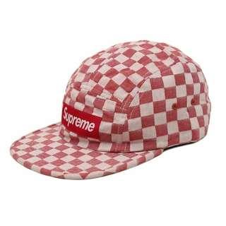 SUPREME CHECKERBOARD CAMP HAT