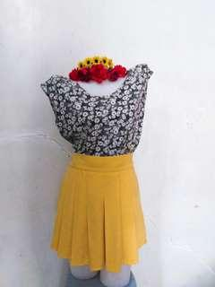 Skirt and blouse pair