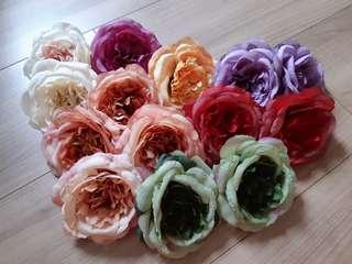 Artificial Peony / English Rose flower heads