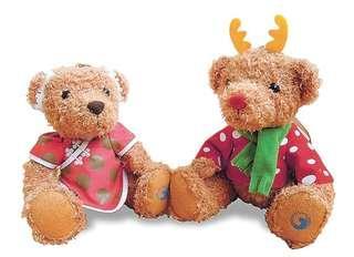 全新-節慶紀念版限量泰迪小熊(CHT Teddy Bear)/ 聖誕與春節節慶紀念版限量泰迪小熊組
