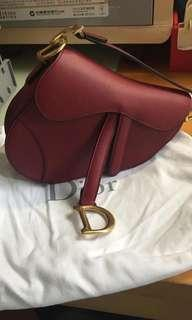 Dior Saddle Red Leather Bag 手袋