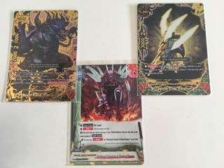 Buddyfight yamigedo secret set (3 cards)