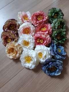 Artificial peony flower heads