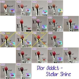 <全新正品> Dior Addict - Stellar Shine - $180/支