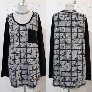 PULLOVER  W/ BLACK SLEEVES