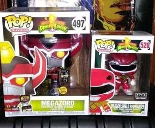 "[ETA MAR] Megazord GITD 6"" & Dragon Shield Red Ranger Power Rangers Funko Pop Bundle"
