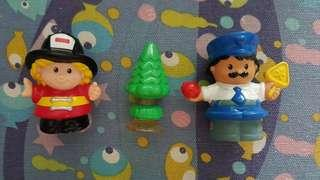 Fisher-Price Little People Firefighter & Policeman
