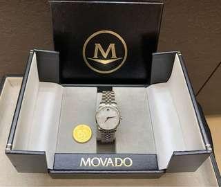 Movado woman diamond watch with box 女裝鑽石腕錶