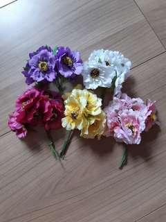 Artificial Cherry Blossom Flowers (6 pieces per bunch)