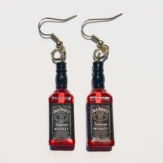 ulzzang earrings whiskey bottle