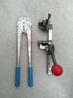 Working condition plastic strapping tool set