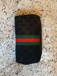 Black Gucci double zip Wallet