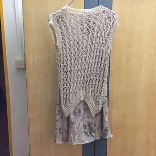 🚚 Fake 2 Pc Knitted Top