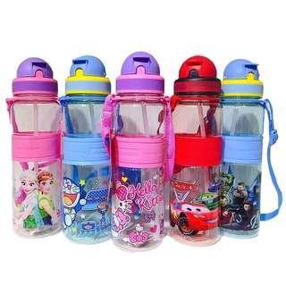 500ml Kids Children Water Bottle Straw Bottle Cartoon Disney Kids Water Bottle