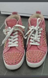 🚚 Authentic Christian Louboutin Louis studded sneakers