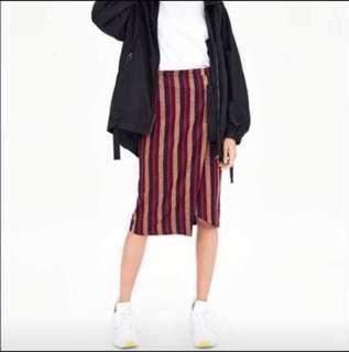 Zara 條紋裙