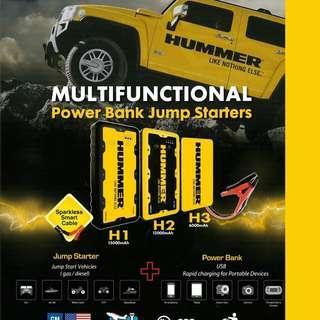 Multifunction Car Jump Starter/Power Bank Hummer H3 $138/-