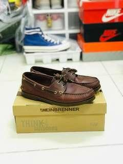 Boat shoe leather