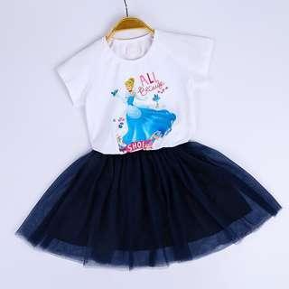 Preorder 21-24 Mar, Cinderella 2pcs skirt set