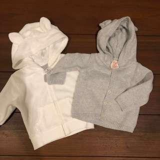 Carters hoodies 3 months unisex neutral
