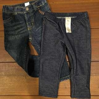 Carters jeans 9 months neutral unisex