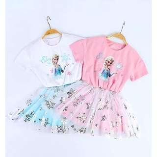 Preorder 20-24 Mar, Elsa 2pcs skirt set