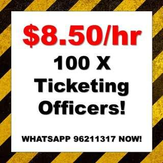 100 X Temp Ticketing Officers @ Central !!! WA 96211317