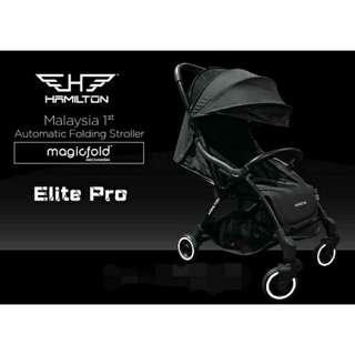 🙉BEST DEAL🙉HAMILTON UK Ezze Elite Pro MagicFold Stroller (CARBOM BLACK🐧🕶)
