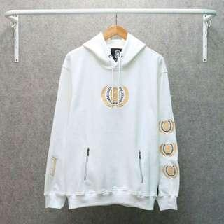 Hoodie baster cold gold white