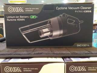 OHM SHIMONO Cordless Cyclone Vacuum Cleaner