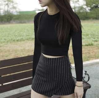Instock Black Long Sleeve Shirt