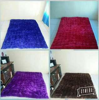 Surpet (kasur karpet)bulu rasfurwarna polos