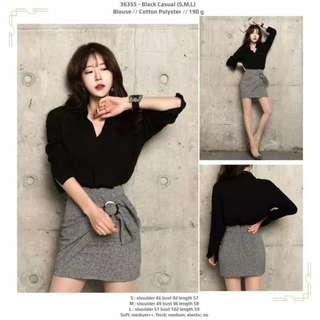 Blouse 36355 - Black Casual