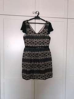 Free postage Black Dress With Lace