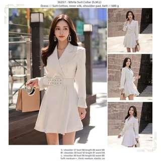 Dress 36357 - White Suit Collar
