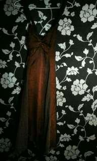 gougeous dress in red wine color