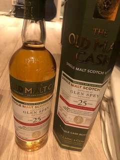 Glen Spey ( bottle by old malt cask)25 years