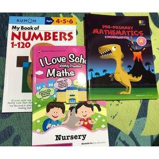 🚚 (All 3 books $15) Nursery Math books