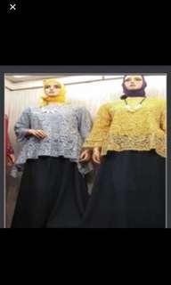 Grey lace blouse