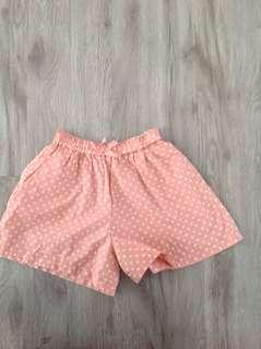 Uniqlo Peach Polka Dot Shorts